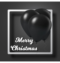 Merry Christmas Sale Poster with Air Balloons vector image