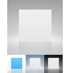 blank presentation cards vector image vector image