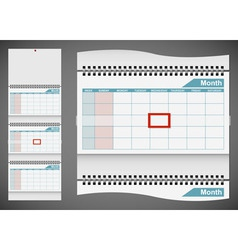 Blank standard wall calendar template isolated on vector image