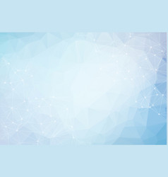 3d blue abstract mesh background with circles vector image
