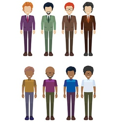 A group faceless adults vector