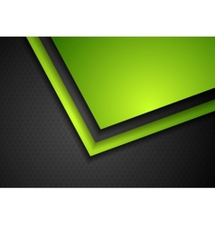 Abstract green and black tech corporate design vector