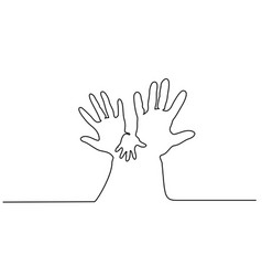 Abstract hands woman and man holding baby hand vector