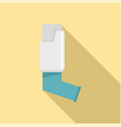 asthma inhaler icon flat style vector image