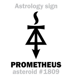 Astrology asteroid prometheus vector