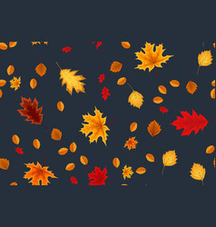 autumn seamless pattern background with falling vector image