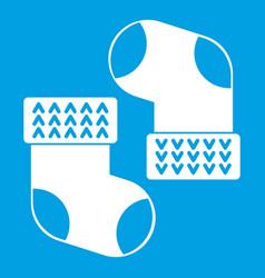 baby socks icon white vector image