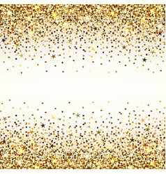 Background gold sequins vector