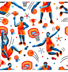 Basketball pattern seamless design graphic vector