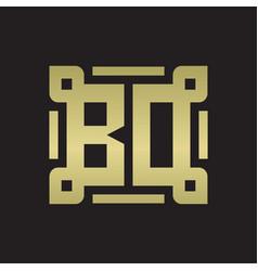 bd logo monogram with piece line art design vector image