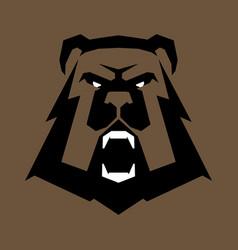 Bear head sports logo great for sports logotypes vector