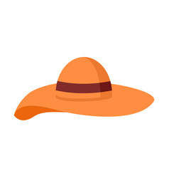 big floppy hat summer stuff graphic design vector image