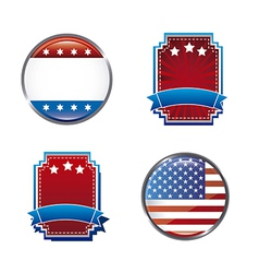 Blank united states tags isolated over white vector