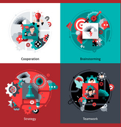 Brainstorming And Teamwork Set vector