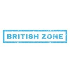 British Zone Rubber Stamp vector