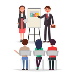 business meeting people set vector image