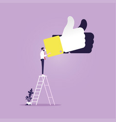 business positive feedback concept vector image