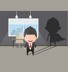 Business power concept businessman standing in vector