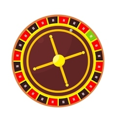 Casino Roulette Wheel Isolated on White vector image