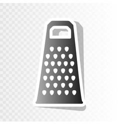 cheese grater sign new year blackish icon vector image