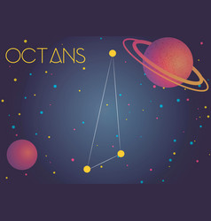 Constellation octans vector