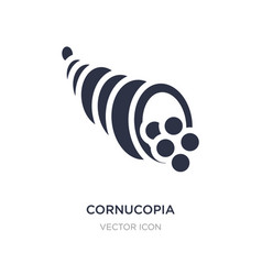 Cornucopia icon on white background simple vector
