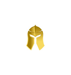 Creative abstract golden warrior helmet logo vector