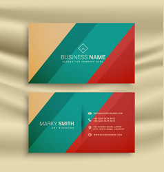 Creative business card design with retro colors vector
