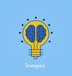 creative imagination business bulb design vector image