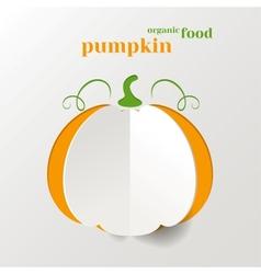 Creative Pumpkin vector image
