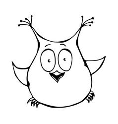 cute funny happy surprised amused puzzled owl bird vector image