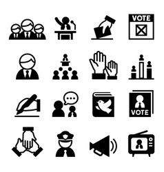 democracy icon vector image