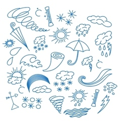 Doodle weather vector image