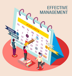 effective management calendar concept vector image