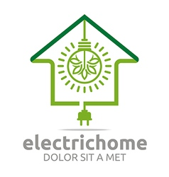 electric home light energy bright logo vector image