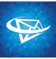 Envelope Swoosh Icon vector image