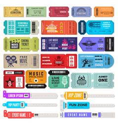 Events bracelet entrance key for music party vector