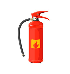 Fire extinguisher with long black hose vector
