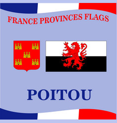 Flag of french province poitou vector