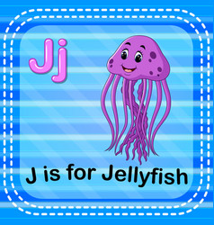 Flashcard letter j is for jellyfish vector