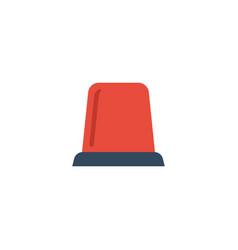 flat icon flasher siren element vector image