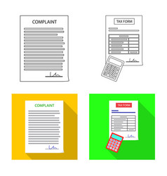 form and document sign set vector image