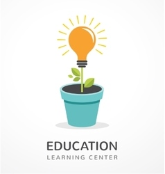 Growing idea - concept icon of education vector