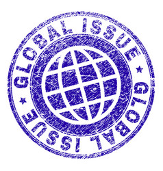 Grunge textured global issue stamp seal vector