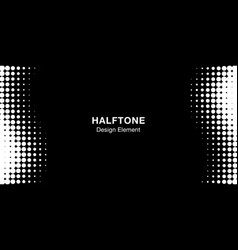 halftone circle frame horizontal background vector image