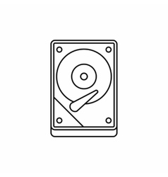 HDD icon icon outline style vector image