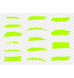 highlighter brush set vector image