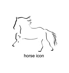 Horse icon on white background vector image