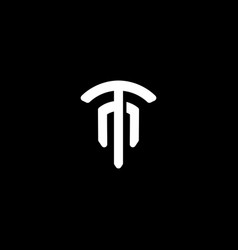 Initial letter t m logo template with fork vector