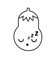 Kawaii eggplant cartoon vector
